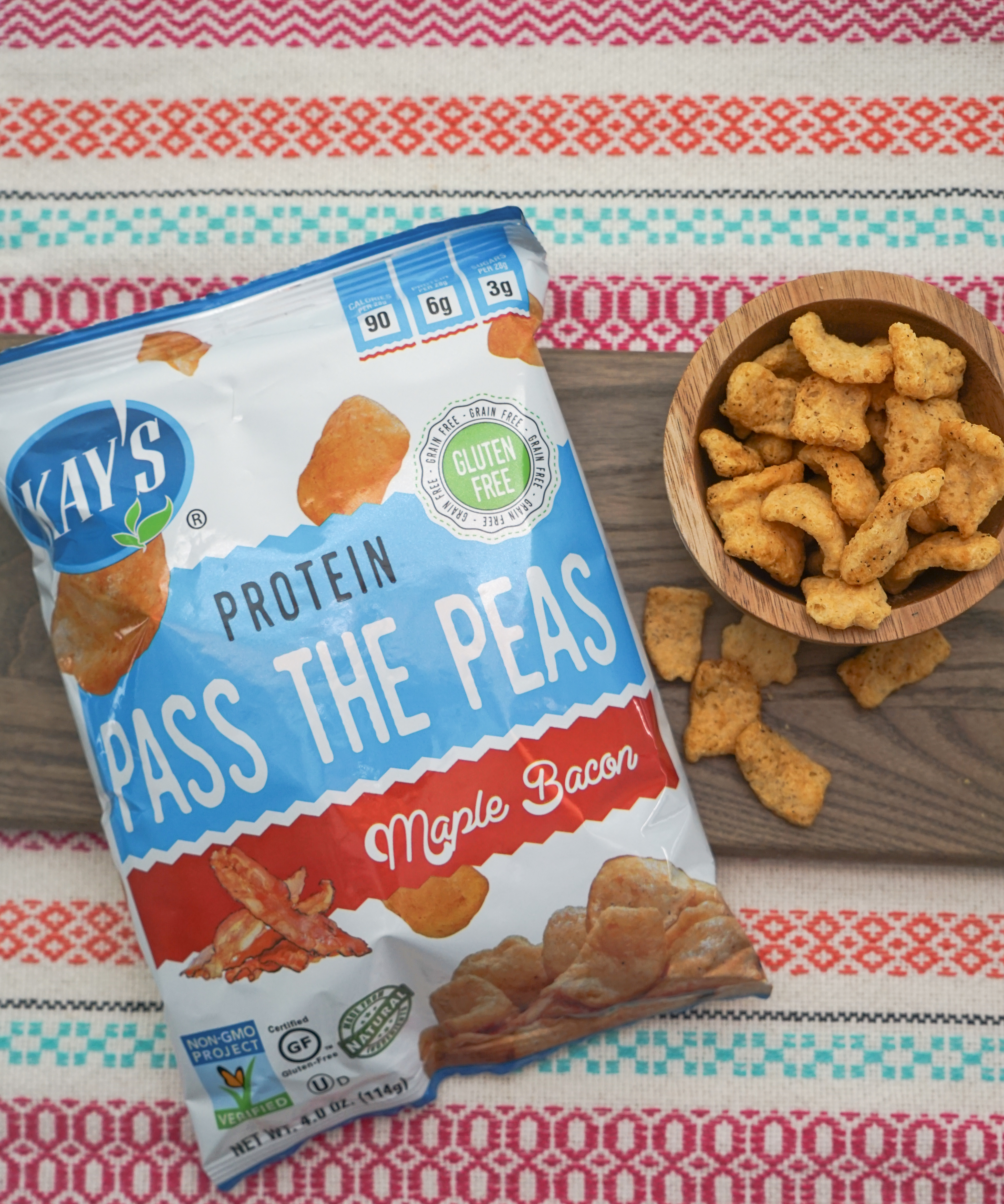 4oz bag of Kay's Naturals Pass the Peas in Maple Bacon