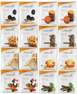 Celebrate Protein Samples 16 Pack, 8 Flavors