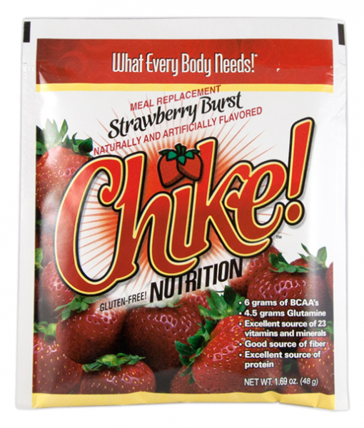 Single Serving Packet of Chike Meal Replacement Strawberry Burst