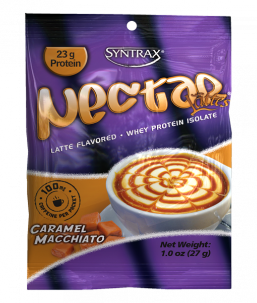 Sample Size of Syntrax Nectar Protein in Caramel Macchiato