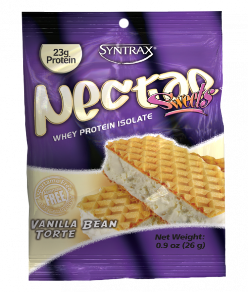 Sample Size of Syntrax Nectar Protein in Vanilla Bean Torte