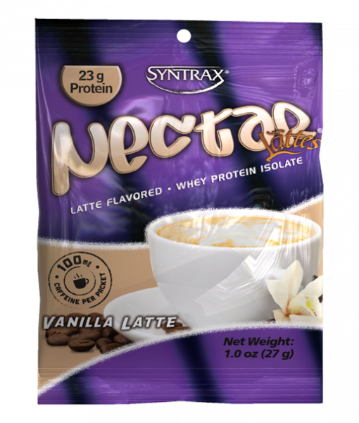 Sample Size of Syntrax Nectar Protein in Vanilla Latte